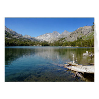 Cartão Reflexão do lago, lagos gigantescos CA, vazio para