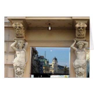 Cartão Reflexão na janela, Viena, Áustria