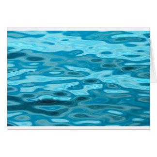 Cartão Reflexões da água