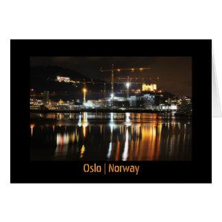 Cartão Reflexões da água em Oslo, Noruega