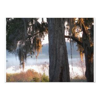 Cartão Reflexões em um lago para baixo para o sul