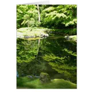 Cartão Reflexões no jardim de Nitobe