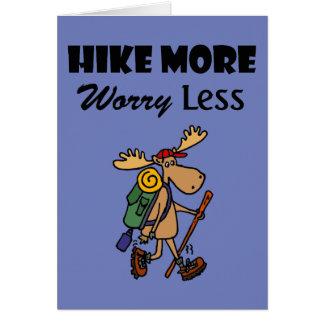 Cartão Refrigere a caminhada mais preocupação menos alces