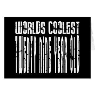 Cartão Refrigere o 29o: Anos de idade os mais frescos dos