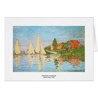 Cartão Regata em Argenteuil por Claude Monet