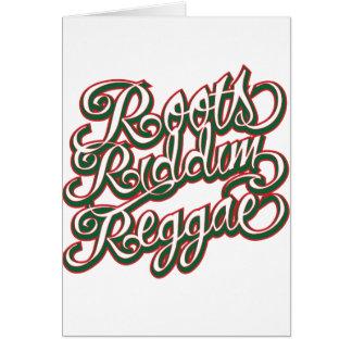 Cartão Reggae de Riddim das raizes