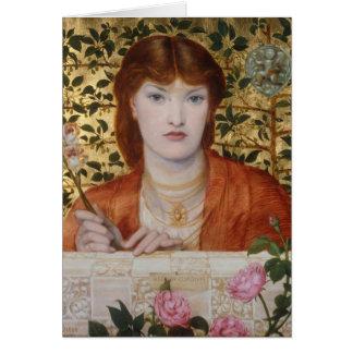 Cartão Regina Cordium - Dante Gabriel Rossetti
