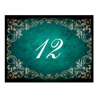 cartão régio do assento da mesa do casamento do cartão postal