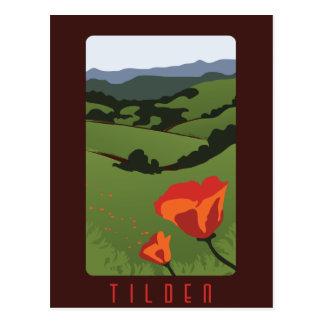 Cartão regional do parque de Tilden