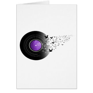 Cartão Registro do grito das pombas