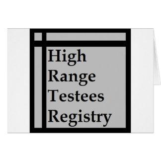 Cartão Registro dos Testees da escala alta (HRTR)