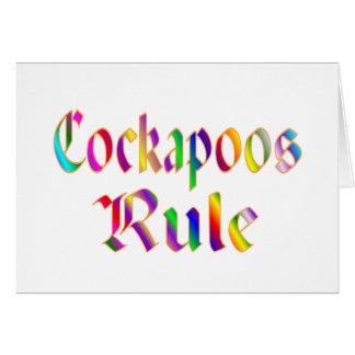 Cartão Regra de Cockapoos
