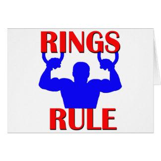 Cartão Regra dos anéis