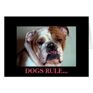 Cartão Regra dos cães