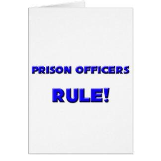 Cartão Regra dos oficiais de prisão!