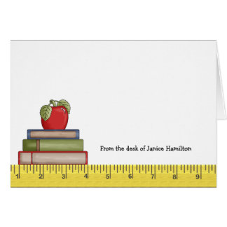 Cartão Regra Notecards dos professores
