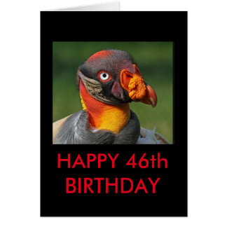 Cartão Rei abutre - 46th feliz