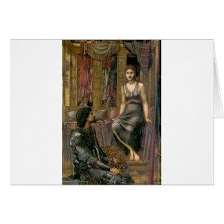 Cartão Rei Cophetua e empregada doméstica de Edward - de