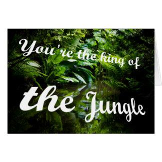 Cartão Rei da selva