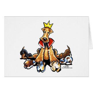 Cartão Rei de Airedale dos terrier