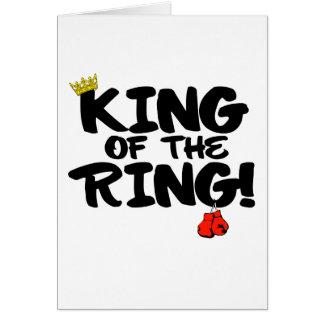 Cartão Rei do anel!