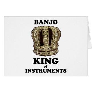 Cartão Rei do banjo dos instrumentos