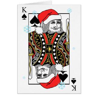 Cartão Rei do Feliz Natal das pás