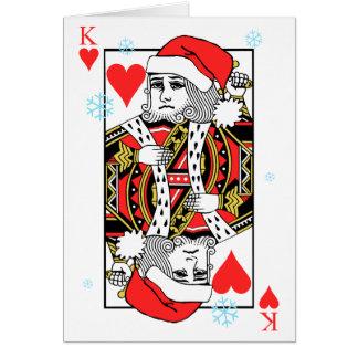 Cartão Rei do Feliz Natal dos corações