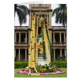 Cartão Rei Kamehameha o excelente