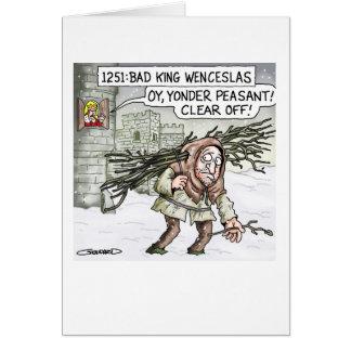 Cartão Rei mau Wenceslas