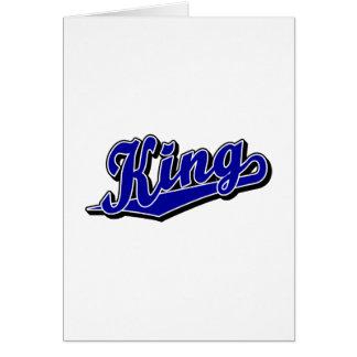 Cartão Rei no azul