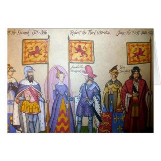 Cartão reis escoceses