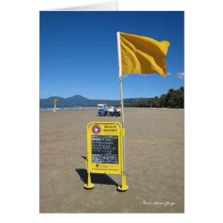 Cartão Relatório australiano da praia