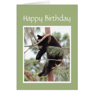 Cartão Relaxe-o é seu urso do aniversário para qualquer