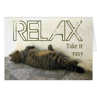 Cartão Relaxe - tome-o fácil