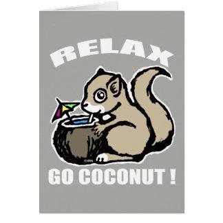 Cartão Relaxe! Vai o coco