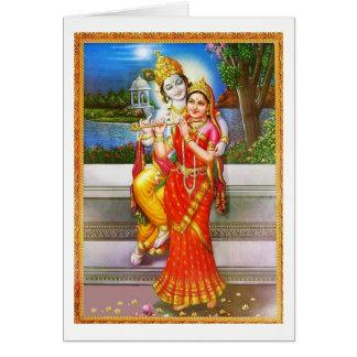 Cartão Religião da hinduísmo da deusa do deus de Radha