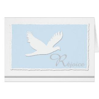 Cartão religioso cristão da páscoa da pomba