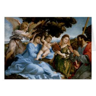 Cartão religioso da arte