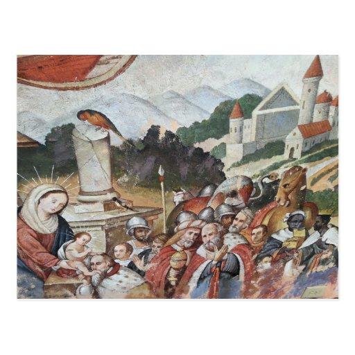 Cartão religioso da arte do vintage cartões postais