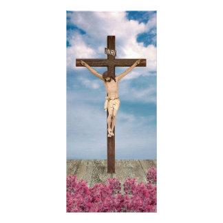 Cartão religioso da cremalheira 10.16 x 22.86cm panfleto