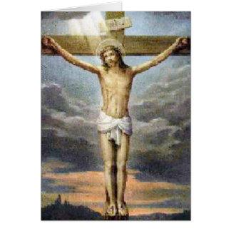 Cartão religioso da crucificação da páscoa
