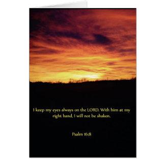 Cartão religioso da força do céu ambarino do por