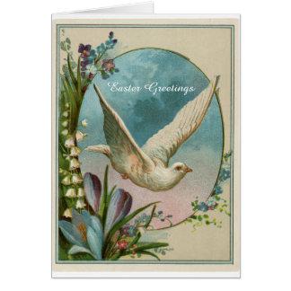 Cartão religioso da páscoa do design do vintage