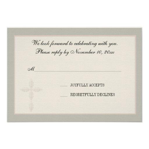 Cartão religioso da resposta do Watermark transver Convites Personalizado