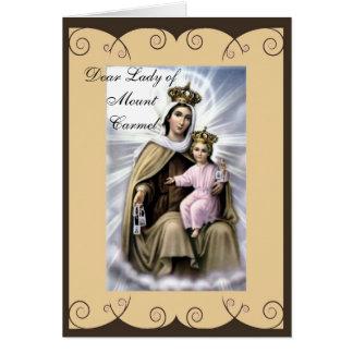 Cartão religioso da simpatia ou do incentivo