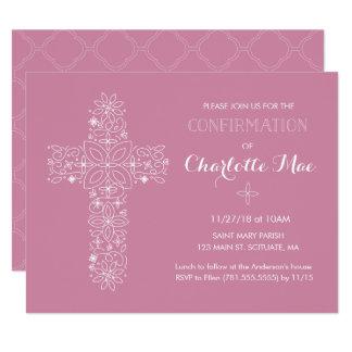 Cartão religioso do convite da confirmação da