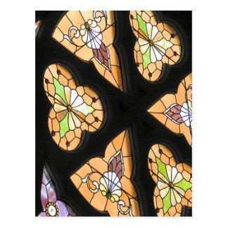 Cartão religioso do costume da páscoa do vitral cartoes postais