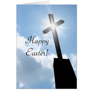 Cartão religioso do felz pascoa