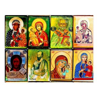 Cartão religioso do tema cristão cartao postal